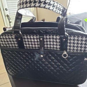 Other - MG  Black & White houndstooth dog carrier purse